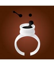 拋棄式黑膠戒指 (100)